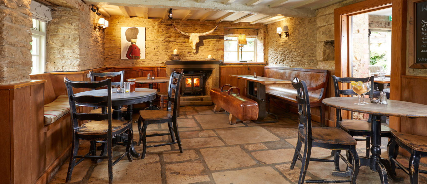 Enjoy a drink in our cosy bar